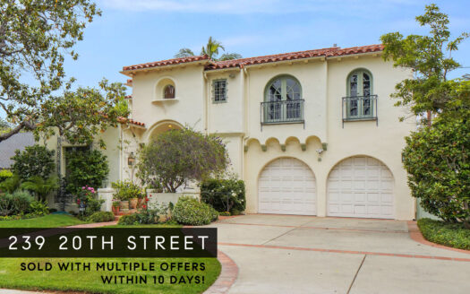 239 20th Street sold banner